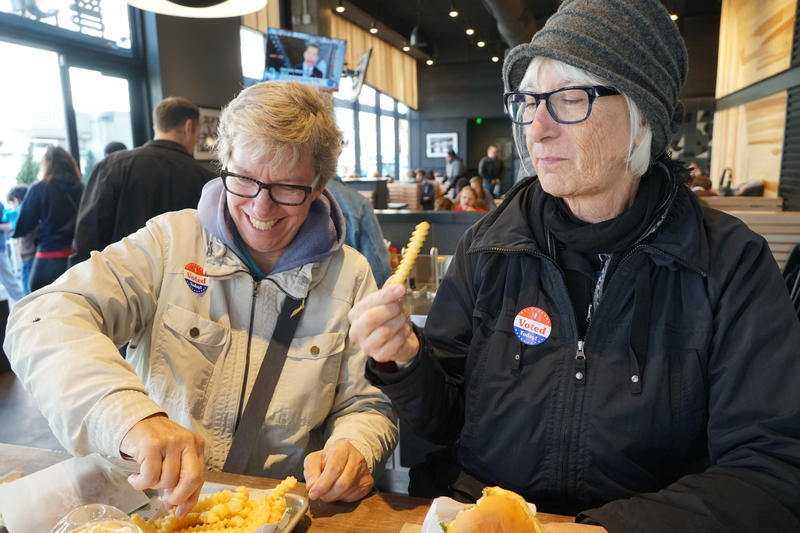 Businesses woo voters with freebies after they cast ballots. Nov. 6, 2018