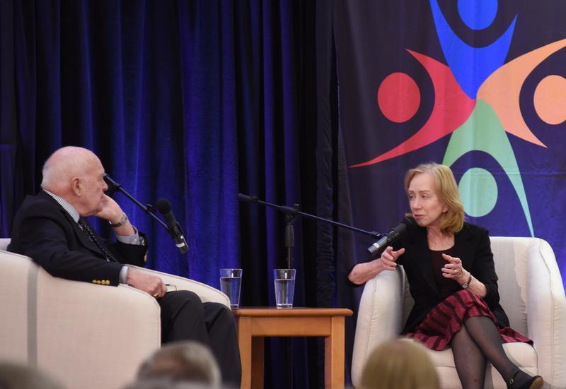Doris Kearns Goodwin is an award-winning American biographer, historian, and political commentator that specializes in analyzing the administrations of U.S. presidents. She was interviewed by host Don Marsh on Nov. 10 at the St. Louis County Library.