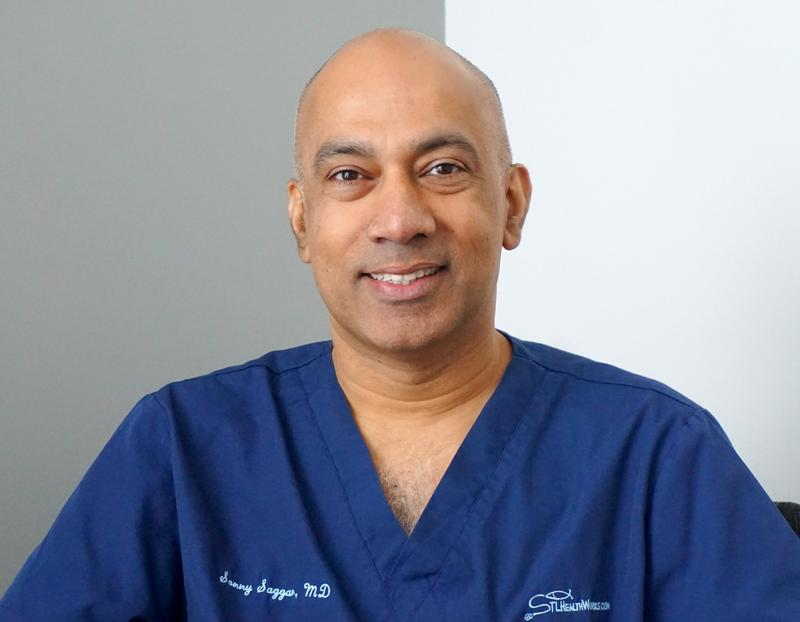 Dr. Sonny Saggar has practiced medicine in the St. Louis region for many years but grew up in England. He's worked in hospital emergency rooms in both countries.
