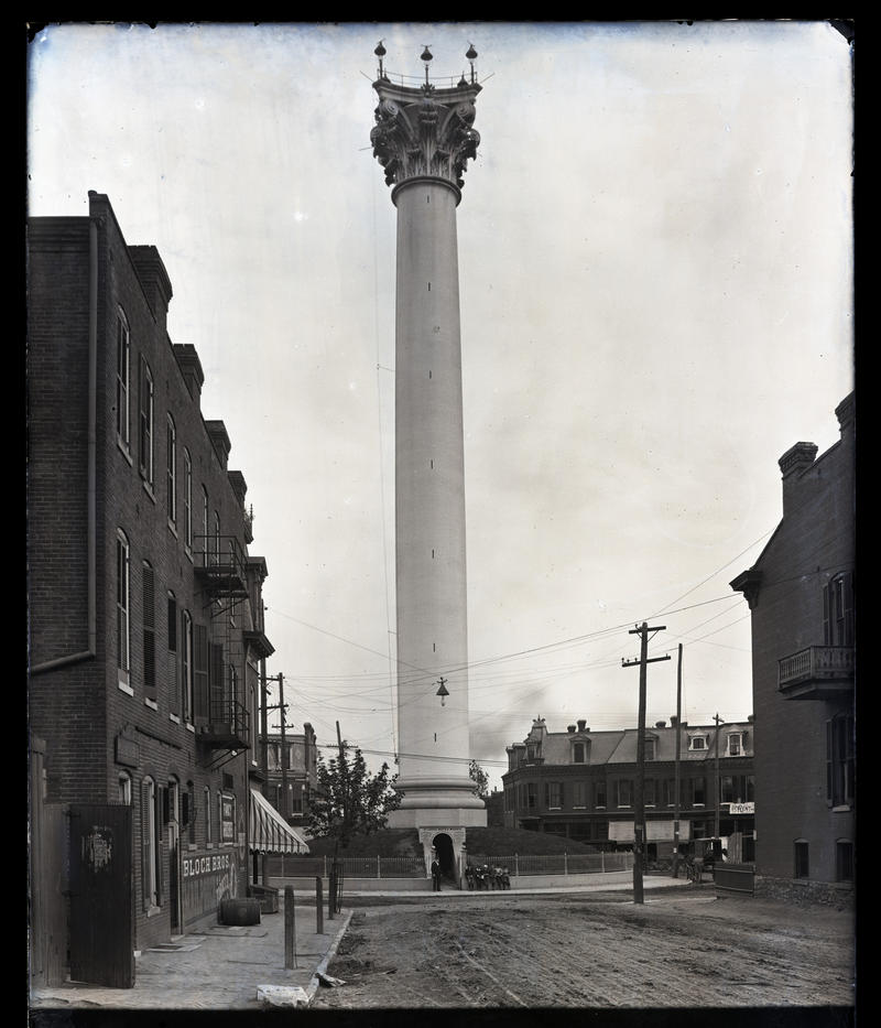 The Grand Avenue water tower, near I-70, was built in 1871.