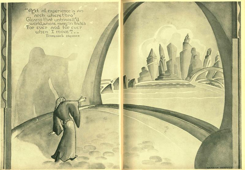 Geneva Abbott's drawing of an arch on the St. Louis riverfront appears in the 1933 edition of the Red and Black, Central High School's yearbook from that year.