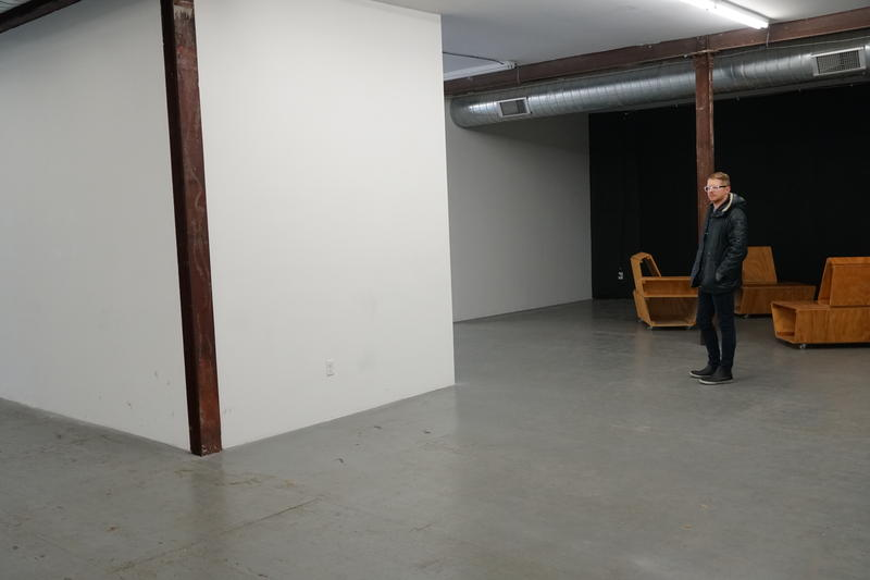 The Luminary co-founder James McAnally stands in the gallery's wide-open space. A planned renovation will create smaller gathering areas designed for public use. 11/22/18