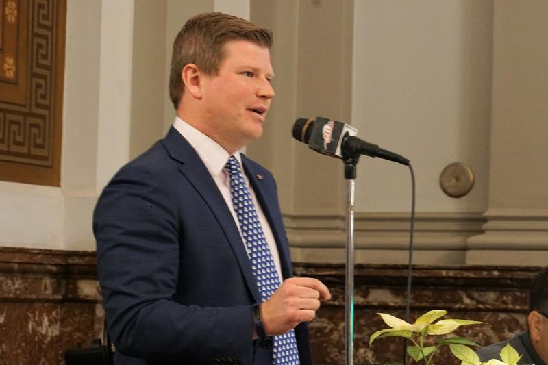 St. Louis Alderman Jack Coatar, D-7th Ward, speaks during debate on Friday, Dec. 7, 2018, over legislation to pay for convention center renovations.