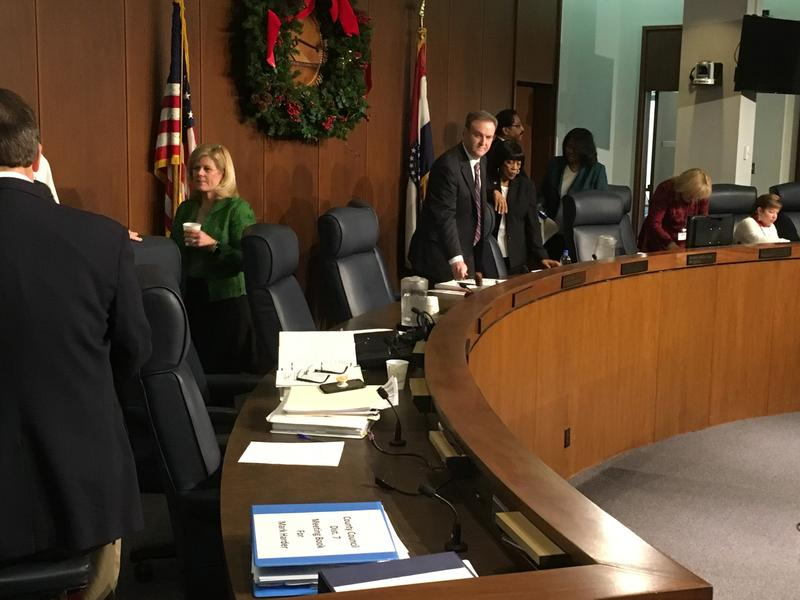 Members of the St. Louis County Council gather for their last meeting of 2018 on Dec. 18, 2018.