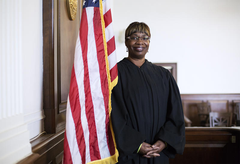 Judge Robin Ransom poses for a portrait at the Civil Courts Building in St. Louis.  Dec. 27, 2018