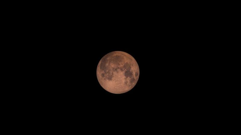 A red total lunar eclipse seen in Greenbelt, Maryland.