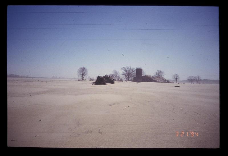 The Great Flood of '93 swept blankets of sand onto a Missouri River flood plain near Berger, Missouri.