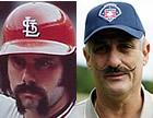 Which relief pitcher from the 70s had a better mustache?  You choose.  (Al Hrabosky photo from alhrabosky.com/Rollie Fingers photo from UPI)