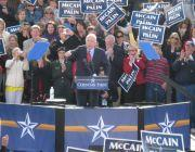 John McCain addresses 3,000 supporters in New Town, St. Charles
