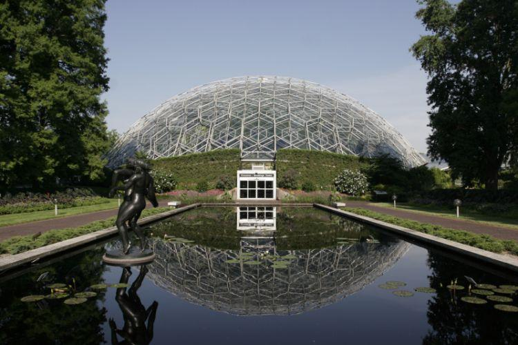 The garden's climatron opened in 1960 and helped bring visitors and revenue back to the facility.