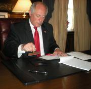 Governor Quinn vetoes the state budget Wednesday in Springfield
