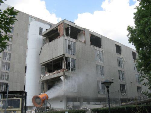 Demolition of San Luis began last week.