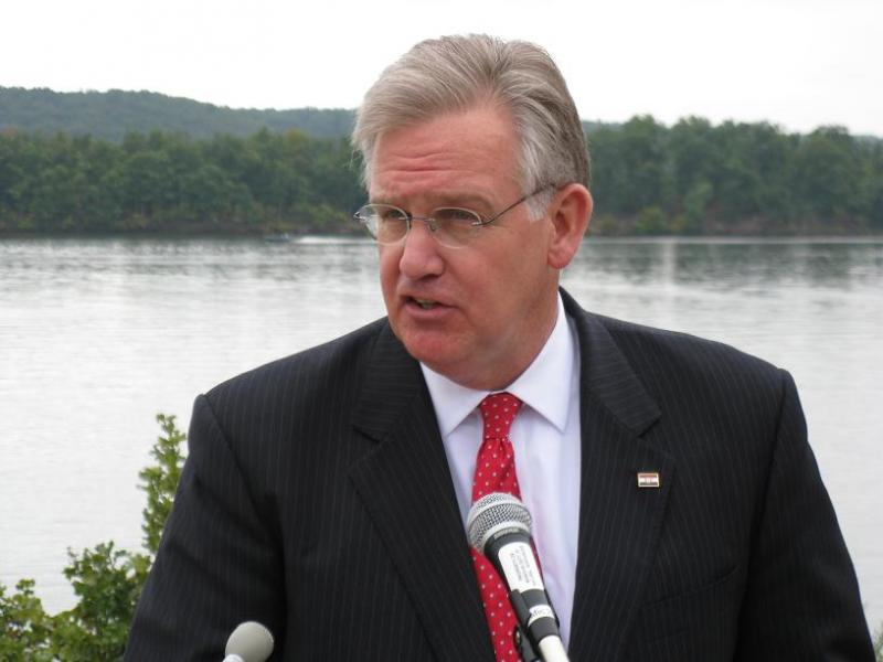 Mo. Gov. Jay Nixon unveils a major water quality enforcement effort at the Lake of the Ozarks.