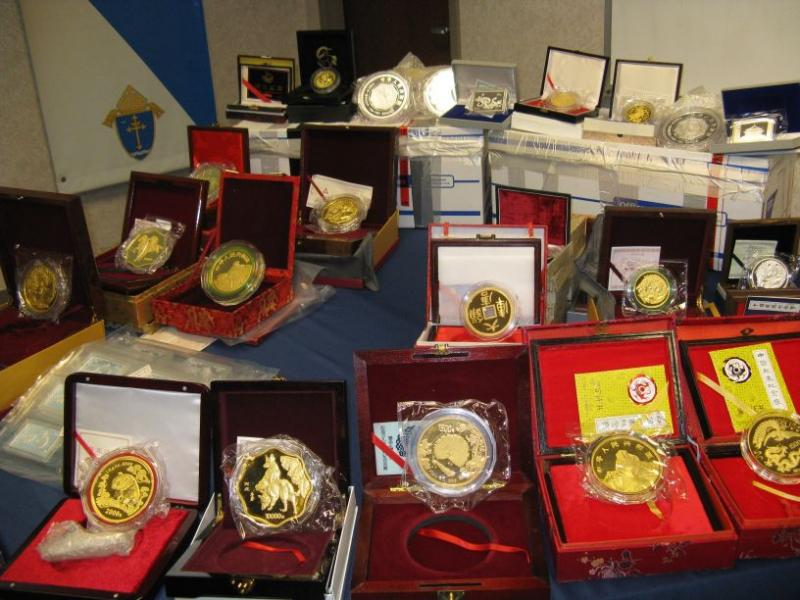 Some of the gold coins found in the basement of Don Weir's house