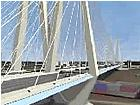An artist's rendering of the new Mississippi River bridge.
