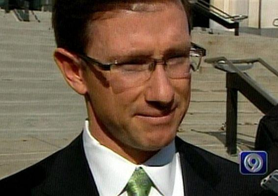 State Senator Matt Bartle after testifying in front of a grand jury about possible pay-to-play schemes in Jefferson City