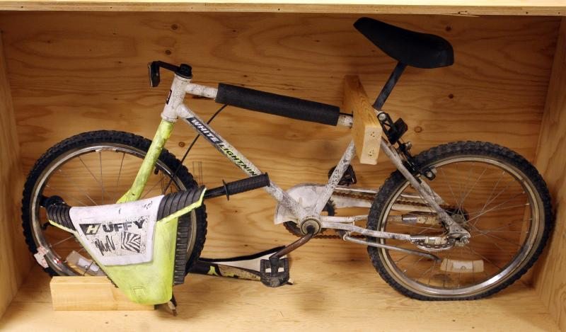 The bike Arlen Henderson was riding at the time of his disappearance.