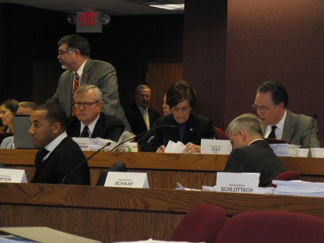 Mo. House Budget Committee members prepare to vote on budget bills for FY 2011.