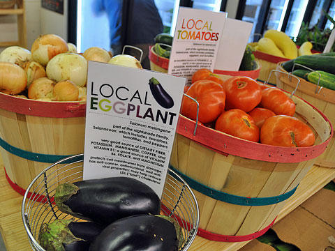 The co-op specializes in selling produce grown within about 100 miles of the store.