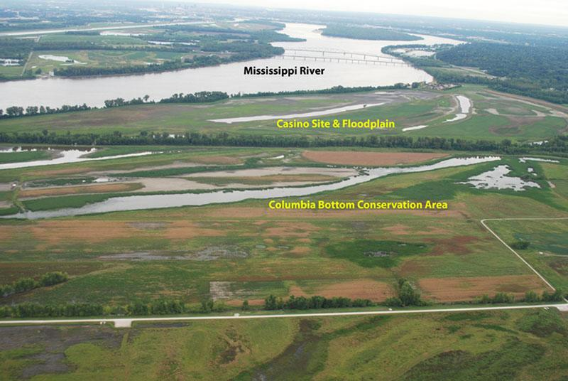 A photo of the possible casino site in north St. Louis County near Spanish Lake.