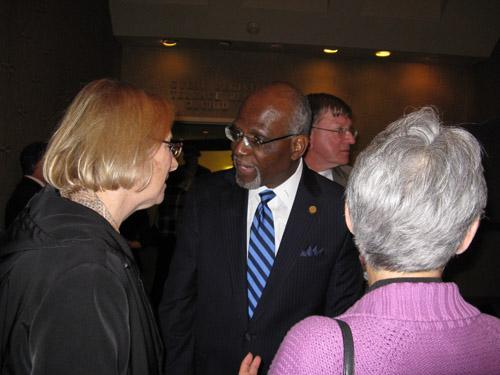 Dooley with his supporters on Election Night 2010.