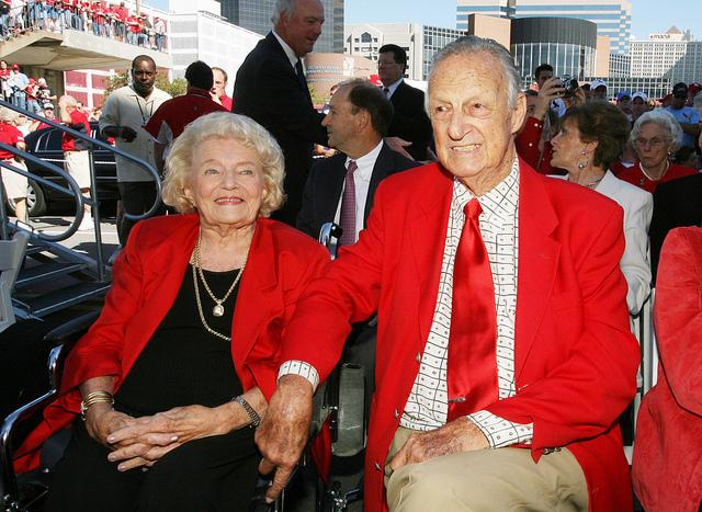Stan Musial and his wife Lillian in 2006.