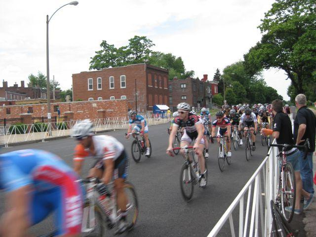 Rounding the turn at the Tour de Grove.