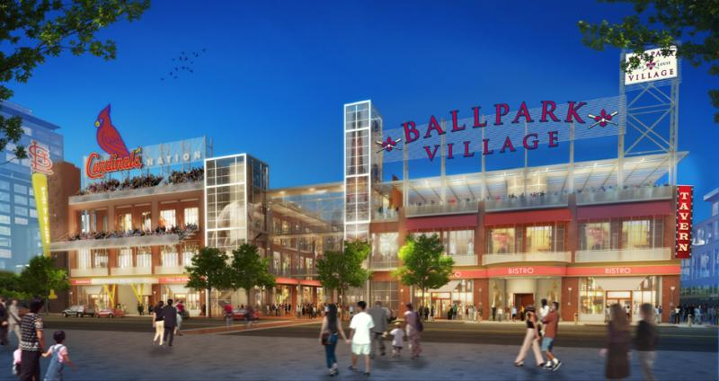 A newly released rendering for plans for Ballpark Village.