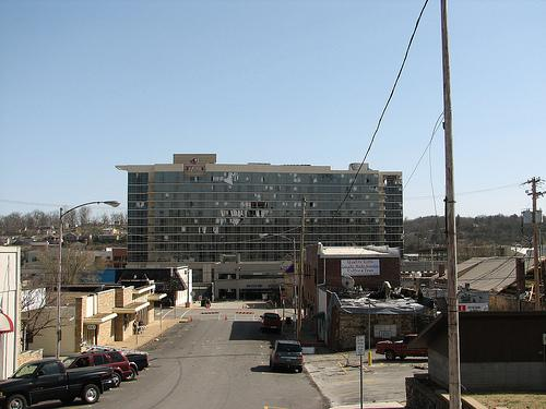 A view of downtown Branson, Mo. after a tornado swept through the area on Feb. 29, 2012.