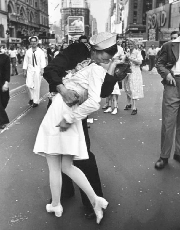 """V-J Day, Times Square, New York"""