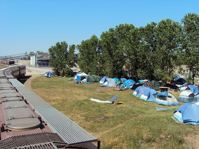 "The former riverfront tent camp known as ""Hopeville."" The city says it was able to get all residents living there into housing, and a new federal grant will expand those services in the city."