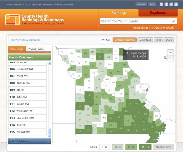 Health rankings for 3,000 counties and the District of Columbia are available at www.countyhealthrankings.org.