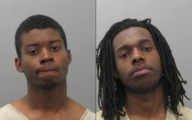 Christopher Gales (left) and Montez Thomas, both 18 and of St. Louis, have been charged in the shooting of an off-duty St. Louis Police officer.