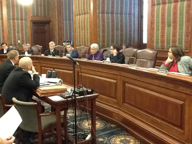 iPad photo of Mo. Sen. Appropriations Committee meeting on 4/10/2012.