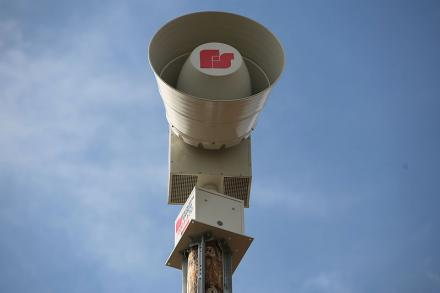 The state of Missouri holds its statewide tornado drill today at 1:30 p.m. Pictured is a warning siren in Kansas.