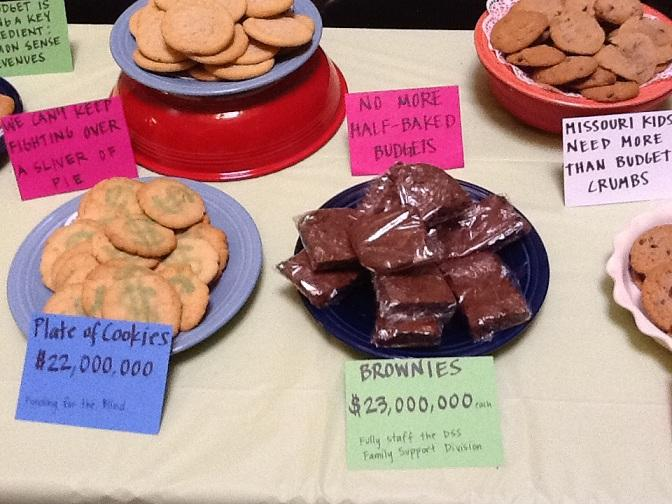 "Some of the baked goods ""for sale"" at the ""bake sale"" held on the 3rd floor of the Mo. Capitol on 4/10/2012."