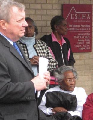 U.S. Sen. Dick Durbin, D-Ill. in East St. Louis on Feb. 22.