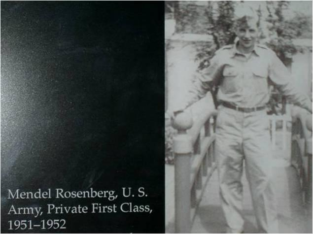 Mendel Rosenberg in his days in the Army.