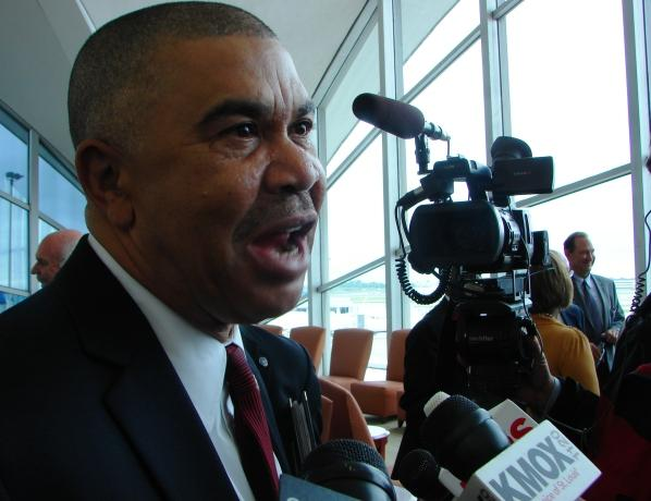 US Congressman Lacy Clay commended the recovery work at Lambert Airport.
