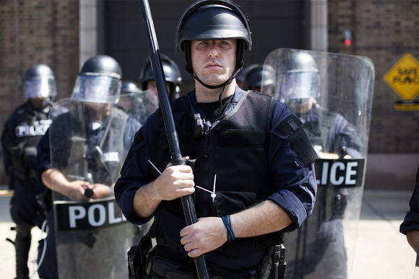 Riot police break up St. Louis protest over officer's acquittal