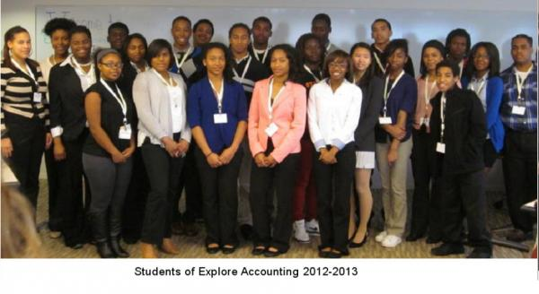 The students pose for a group photo after the conclusion of their session.