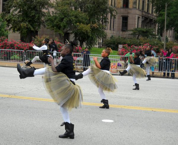 Girls dance in the 2011 Annie Malone parade.
