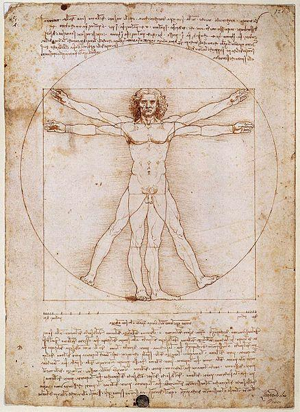 "Leonardo da Vinci's ""Vitruvian Man."""