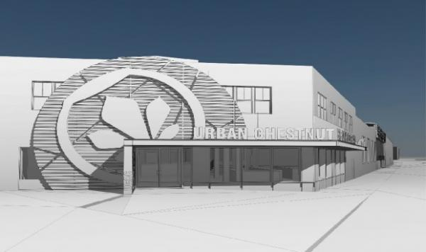 Architectural rendering of new UCBC brewery
