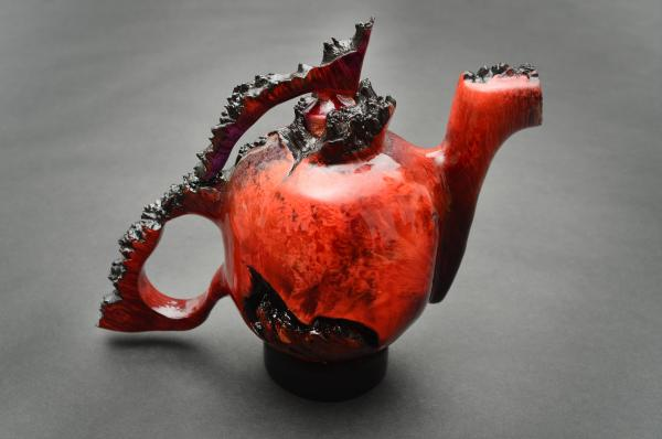 """Cliff Lounsbury's """"Red"""" from""""'Fif-TEA: 14th Biennial Teapot Exhibition"""""""