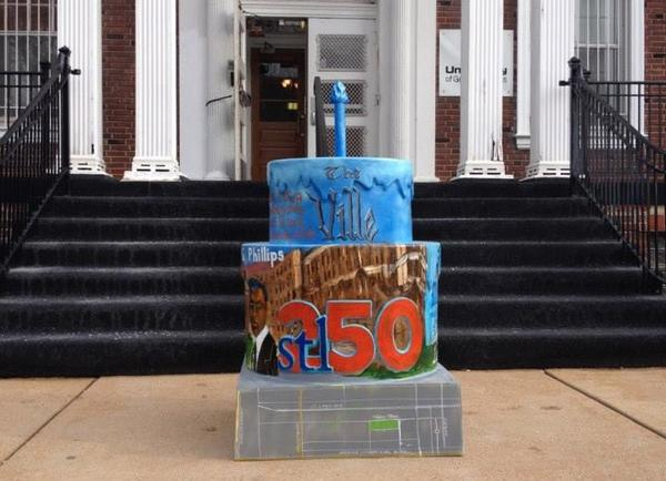 One of stl250's cakes is at the Annie Malone Children and Family Service Center in St. Louis.