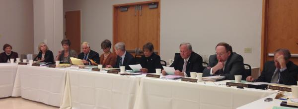At the ZMD board meeting April 21. Whitaker is second from the left.
