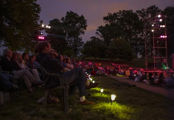 Shakespeare Festival crowd in Forest Park.