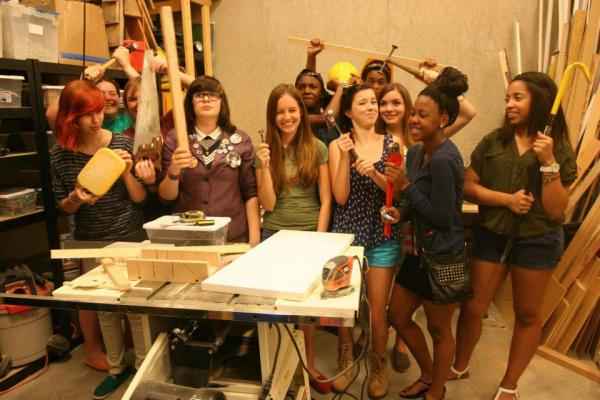 TMS class of 2012 in Contemporary Art Museum receiving room.
