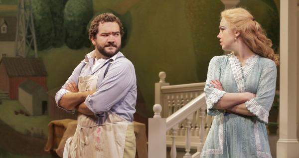 Rene Barbera as Nemorino and Susannah Biller as Adina